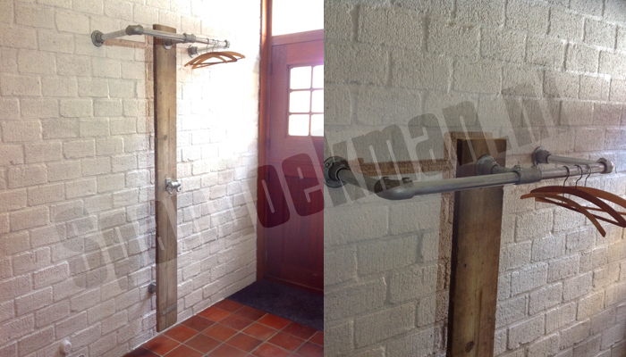 steigerbuis kapstok wandmodel staand 170cm